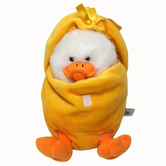RBI Baby White Duck Plush Puppet Quack Sound 10in.